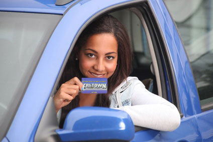 Young driver with Agganis gift card